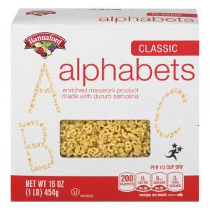 Hannaford Classic Alphabet Pasta