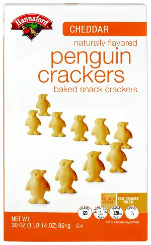 Hannaford Cheddar Cheese Penguins Crackers