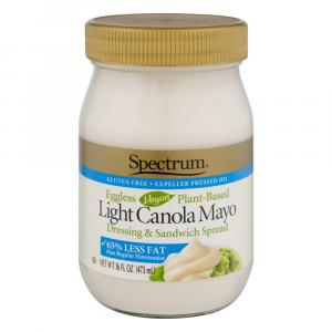 Spectrum Naturals Eggless Vegan Light Canola Mayonnaise