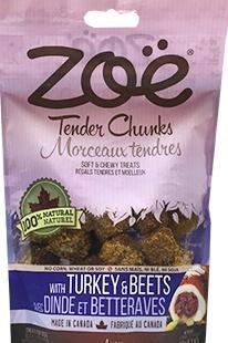 Zoe Chunk Tender Chunks Turkey with Beets Dog Treats