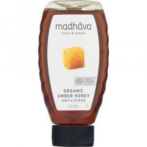 Madhava Organic Unfiltered Amber Honey