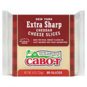 Cabot All Natural New York Extra Sharp Cheddar Cheese Slices