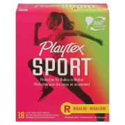 Playtex Sport Unscented Regular Tampons