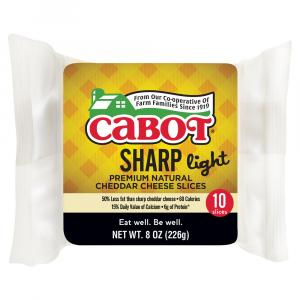 Cabot 50% Light Cheddar Cheese Slices