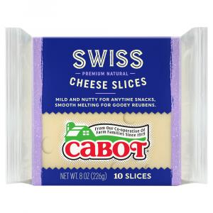Cabot Swiss Cheese Slices