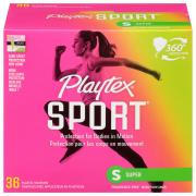 Playtex Sport Super Unscented Tampons