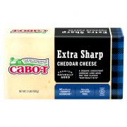 Cabot Extra Sharp White Cheddar Cheese Brick