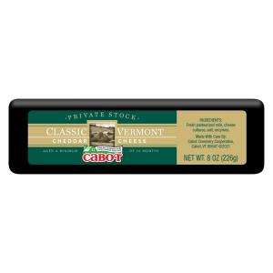 Cabot Private Stock Black Wax Classic Vermont Cheddar Cheese