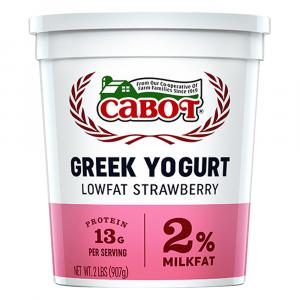 Cabot Greek-Style Lowfat Strawberry Yogurt