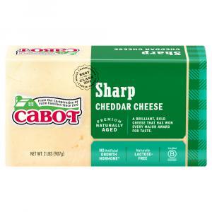 Cabot Sharp Cheddar Cheese Brick