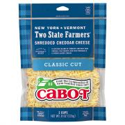 Cabot Two State Farmers' Shredded Cheddar Cheese