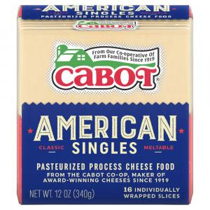 Cabot White American Cheese Slices