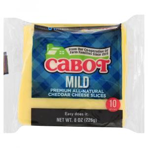 Cabot Mild Cheddar Cheese Slices