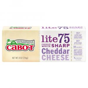 Cabot 75% Reduced Fat Cheddar Cheese Bar