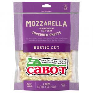 Cabot Mozzarella Shredded Cheese Rustic Cut