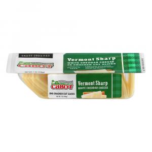 Cabot Sharp White Cheddar Cheese Cracker Cut Slices