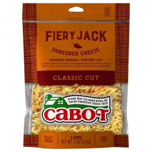 Cabot Fiery Jack Shredded Cheese
