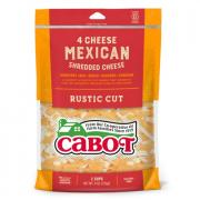 Cabot 4 Cheese Mexican Shredded Cheese Rustic Cut