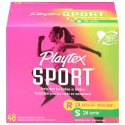 Playtex Sport Fragrance Free Regular & Super Pack Tampons