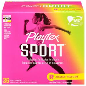 Playtex Sport Regular Unscented Tampons