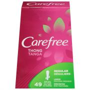 Carefree Thong Tanga Unscented Panty Liners