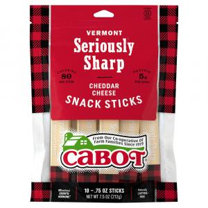 Cabot Vermont Seriously Sharp Cheddar Cheese Snack Sticks