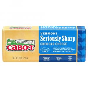 Cabot Seriously Sharp Yellow Cheddar Cheese Bar