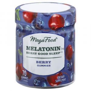 Mega Food Melatonin Berry Good Sleep Berry Gummies