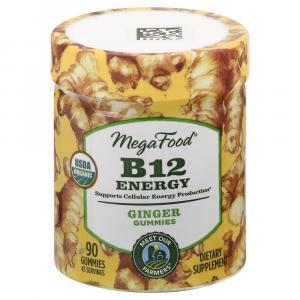 MegaFood Organic B12 Energy Ginger Gummies
