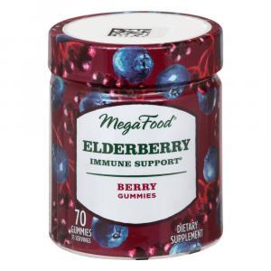 Mega Food Elderberry Immune Support Berry Gummies