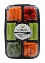 Garden Highway Vegetable Snack Tray with Dip