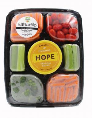 Garden Highway Vegetable Tray with Hummus