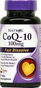 Natrol CoQ-10 100 mg Fast Dissolve Cherry Flavored Tablets