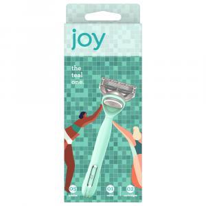 Joy 5 Blade Razor + 2 Cartridges Teal
