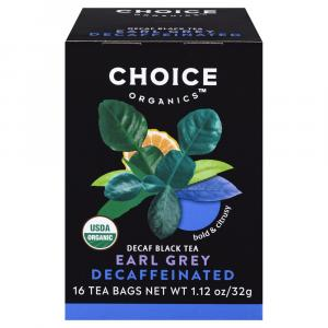 Choice Organic Earl Grey Decaffeinated Black Tea Bags