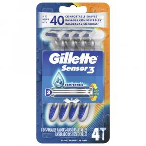 Gillette Sensor3 Disposable Smooth Shave Razors
