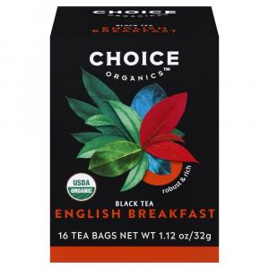 Choice Tea Organic English Breakfast Tea Bags