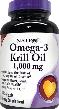 Natrol Omega-3 Krill Oil 1000 Mg