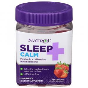 Natrol Sleep + Calm Gummies Strawberry Flavored