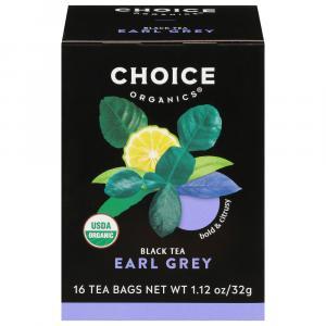 Choice Organic Earl Grey Black Tea Bags
