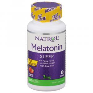 Natrol Melatonin 3mg Fast Dissolve Strawberry