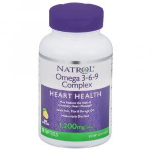 Natrol Omega-3 Complex w/Flax (Lemon Flavor)