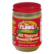 Teddie All Natural Creamy Peanut Butter with Flaxseed