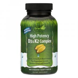 Irwin Naturals High Potency D3 & K2 Complex