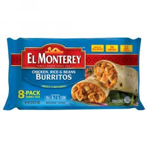 El Monterey Chicken Rice Beans Burritos