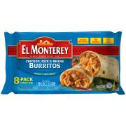 El Monterey Chicken Rice Beans Burritos
