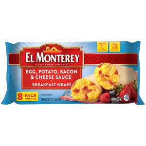 El Monterey Egg, Potato, Bacon, and Cheese Wrap