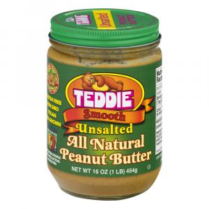 Teddie Old Fashioned No Salt Natural Peanut Butter