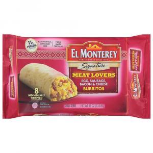 El Monterey Egg Sausage Bacon & Cheese Burritos