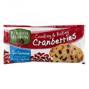 Paradise Meadow Cooking & Baking Julienne Dried Cranberries